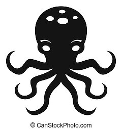 Octopus icon, simple style