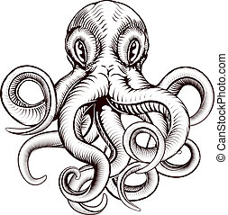 Octopus illustration - An original illustration of an...