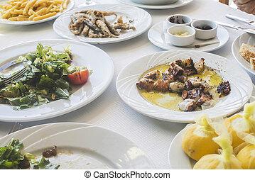 Octopus in a Greek restaurant
