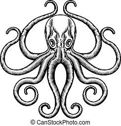 Octopus or Squid Illustration - An original octopus or squid...