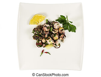 Octopus Salad Portuguese Traditional Style