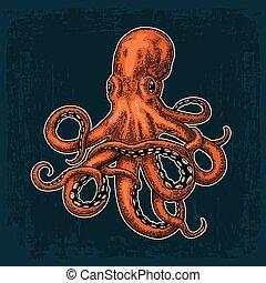 Octopus. Sea Monster