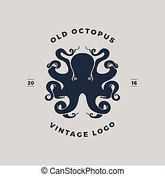 Octopus Stamp Grunge Rubber On White Vector