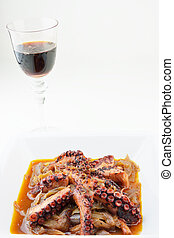 Octopus stew and red wine
