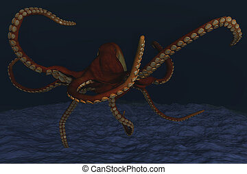 Octopus - Computer Illustration Of An Octopus