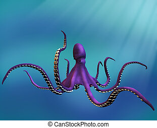 Octopus  - 3D render of an Octopus