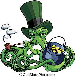 Octopus the suspicious leprechaun