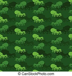Octopus vector art background design for fabric and decor. Seamless pattern