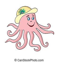 Octopus vector cartoon