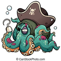 Evil octopus vector illustration eps vector - Search Clip ...