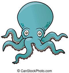 Octopus - Vector illustration of Cartoon octopus