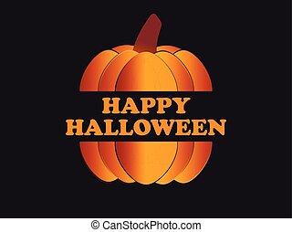 octubre, festivo, halloween, saludo, pumpkin., fondo., vector, 31st., ilustración, feriado, tarjeta, feliz