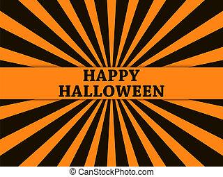 octubre, halloween, saludo, ilustración, fondo., vector, rayos, 31, feriado, tarjeta, feliz