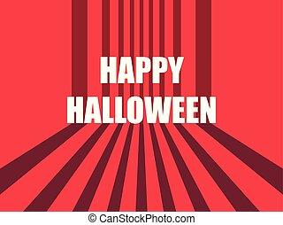 octubre, horror, halloween, ilustración, vector, 31st., retro, plano de fondo, stripes., feliz
