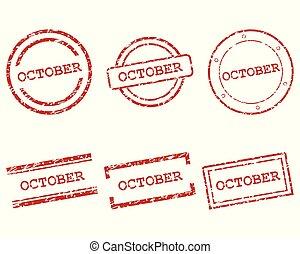 octubre, sellos