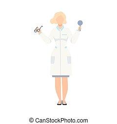 oculist, tecken, optometrist, illustration, läkare,...