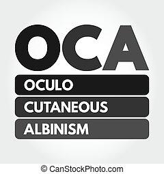 oculo, albinism, acronyme, -, oca, cutané