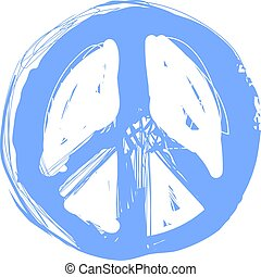 ocultismo, garabato, print., hippie, símbolo, libertad, ...