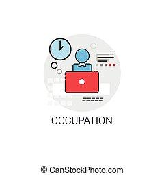 ocupação, trabalho, trabalho, negócio, ícone