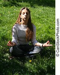 ocupación, por, yoga