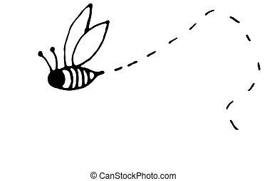 ocupado, abeja