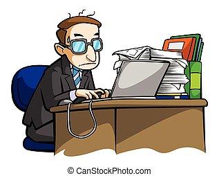 ocupado, hombre de negocios