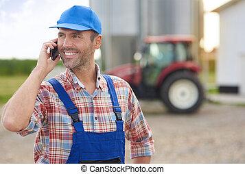 ocupado, modernos, dia, agricultor