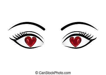 oczy, miłość