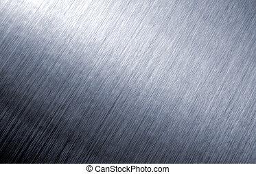 oczyszczony szczotką, abstrakcyjny, metal, tło.