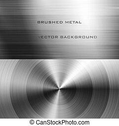 oczyszczony szczotką metal