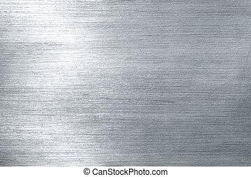 oczyszczony szczotką metal, płyta