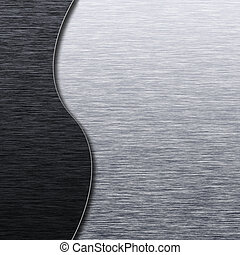 oczyszczony szczotką metal, struktura, szablon
