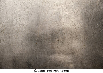 oczyszczony szczotką metal, struktura