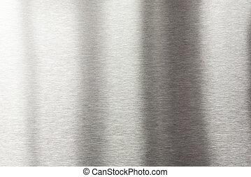 oczyszczony szczotką metal, tło