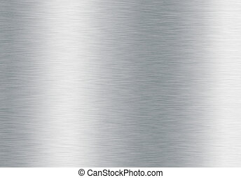 oczyszczony szczotką, srebro, tło, metaliczny