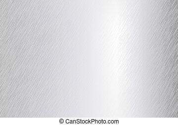oczyszczony szczotką, wektor, metal, listek