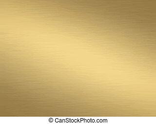 oczyszczony szczotką, złoty