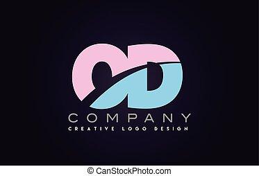 od alphabet letter join joined letter logo design - od...