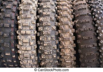 od, motocross, droga, używany, męczy, tło.