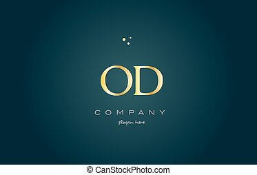 od o d gold golden luxury alphabet letter logo icon template...