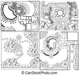od, verzamelingen, plannen, landscape