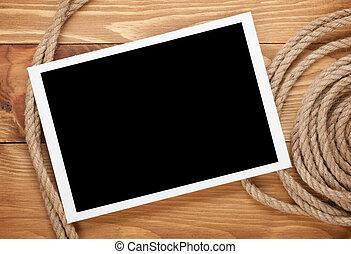 odaköt, fénykép keret, hajó, tiszta