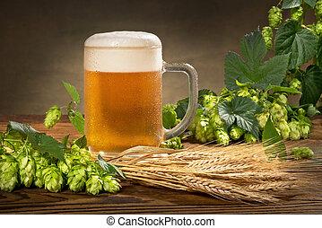 odavan, élet, mozdulatlan, sör