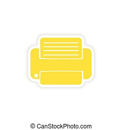 odbijacz, rzeźnik, realistyczny, papier, projektować, ikona