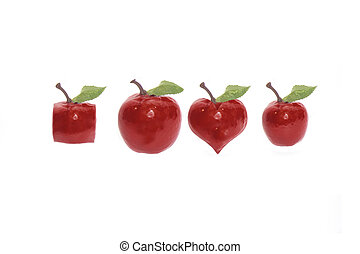 odd fruits with clipping path