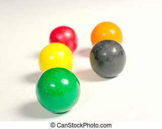 oddball out - gumballs with shallow dof