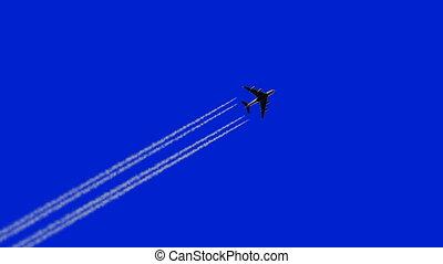 odejście, samolot, 3840x2160, ultra, tło., 3d, muchy, hd, ...