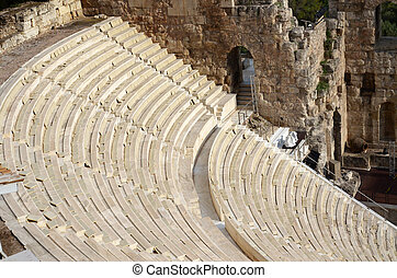 Odeon in Acropolis in Greece