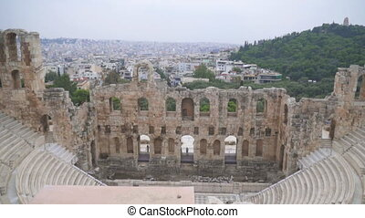 Odeon of Herodes Atticus or Herodeon in Athens.