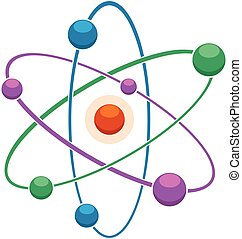 oder, atom, abstrakt, modell, molekül, ikone, vektor, wohnung